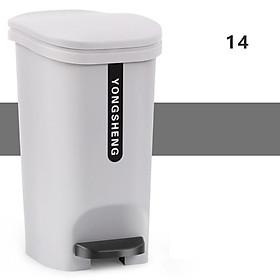 Thùng rác đạp chân 14L - thùng đựng rác nhựa đa năng [Có 2 Màu] R05