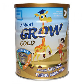 3 Hộp Sữa bột Abbott Grow Gold 3+ 900g