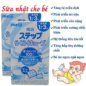 Sữa Nhật Cho Bé Tăng Cân Từ 1 Đến 3 Tuổi Meiji Hỗ Trợ Tăng Hệ Miễn Dịch, Tạo Hệ Tiêu Hóa Tốt Hấp Thụ Dưỡng Chất Hiệu Quả Giúp Bé Phát Triển Cân Đối Nhất Cả Về Chiều Cao, Cân Nặng, Trí Não – 2 Hộp x 648g (24 Thanh x 5 Viên)