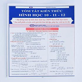 Tóm tắt kiến thức Hình học 10 - 11 - 12