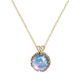 Dây Chuyền Galatea Jewelry Momento Talking Pearl MG-14Y - Xanh Ngọc