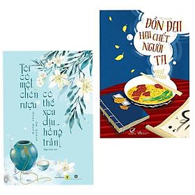 Combo 2 cuốn sách hấp dẫn về văn học: Tôi Có Một Chén Rượu , Có Thể Xoa Dịu Hồng Trần + Đồn Đại Hại Chết Người Ta ( Tặng kèm Bookmark Happy Life)