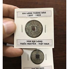 Đồng xu GIA LONG THÔNG BẢO, vua Gia Long Triều Nguyễn Việt Nam, phong thủy sưu tầm