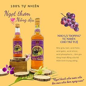 Nước nho lên men tự nhiên Nắng Hồng 100% không hóa chất tổng hợp - Naturally fermented grape juice