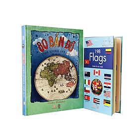 Combo 2 Cuốn : Vòng Quanh Thế Giới - 198 Flags Quốc Kì Các Nước