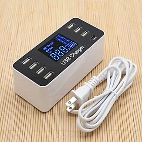 Ổ Cắm Điện USB, Type-C Có Màn Hình Hiển Thị Điện Năng (8 Cổng 5V/8A)
