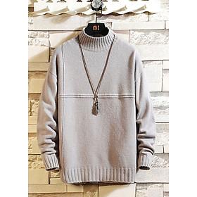 Áo len nam cổ 3 phân LAHstore, chất len dày dặn ấm áp, thích hợp mùa đông, thời trang trẻ, phong cách Hàn Quốc