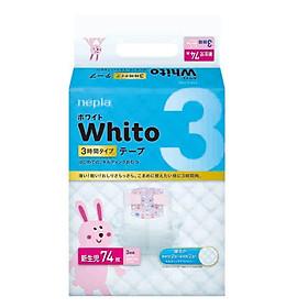 Tã dán siêu cao cấp Nhật Bản Whito (NB, 74 miếng)-0