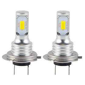 2 Pieces H7-3570 LED Headlights Bulb Kit High/Low Beam 80W 1500LM 6000K