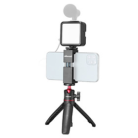 Ulanzi Phone Video Vlog Kit with Selfie Stick Tripod LED Fill Light Phone Clamp Holder Universal 1/4 Cold Shoe Mounting