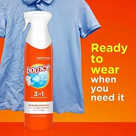 Xịt thơm và làm thẳng quần áo Bounce 3 in 1 của Mỹ chai 275g