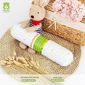 Gối ôm bông Mipbi vỏ gối 100% cotton mềm mại, êm ái cho bé GO01