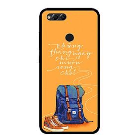 Ốp lưng cho điện thoại  Huawei Honor 7X - 0215 NGAYTHANGRONGCHOI - Viền TPU dẻo - Hàng Chính Hãng