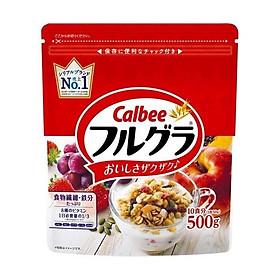 Ngũ cốc hoa quả Calbee 500g (loại mới) Nội địa Nhật Bản - Tặng kẹo Senjaku mật ong