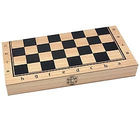 Handmade Wood Folding International Travel Chess Set Board Game Toy