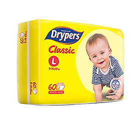 Tã Dán Drypers Classic Cực Đại L60 (60 Miếng)