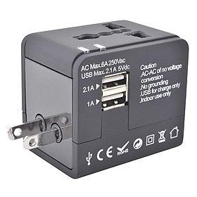 Adapter Sạc Du Lịch 2 Cổng USB Ceomate CME-AD01-3