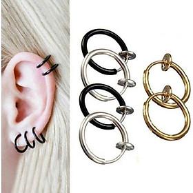 Bông tai kẹp vành mỏng Sơn Tùng Kpop không cần bấm lỗ xỏ lỗ (1 đôi)