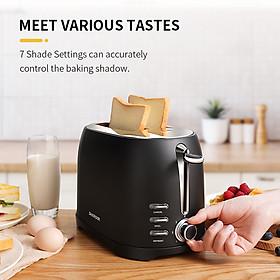 Máy nướng bánh mì thương hiệu Shardor TS515B-ELF - Công suất: 800W - 7 cài đặt nướng - Chất liệu: Thép không gỉ - HÀNG NHẬP KHẨU