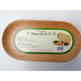 Khay Gỗ Hình Oval TL73 19 Cm Dùng Để Trưng Bày, Đựng Thức Ăn Bánh Kẹo - Đồ Gỗ Nhà Bếp Thương Hiệu Trường Sơn