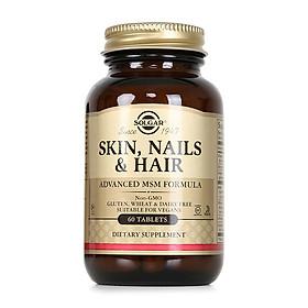 NHẬP KHẨU USA CHÍNH HÃNG -  Viên uống hỗ trợ da, tóc, móng Solgar Skin Nails Hair