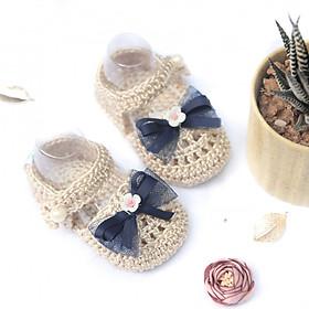 Giày dép bé gái - Xăng đan kem nơ - Sandals The Bunny