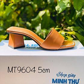 [ Shop giày somina ] Guốc 5cm quai ngang MT9604