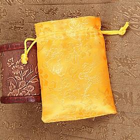 Túi gấm hoa văn long phụng vàng sưu tầm, may mắn, tài lộc, bình an - PCCB MINGT