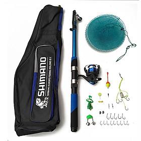 Bộ cần câu cá SHIMANO + Máy câu cá yumushi 200 + Bao đựng cần + phụ kiện - TPB117