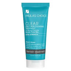 Dung Dịch Hỗ Trợ Điều Trị Và Ngăn Ngừa Mụn Chuyên Sâu Paula's Choice Clear Extra Strength Daily Skin Clearing Treatment With 5% Benzoyl Peroxide (15ml)