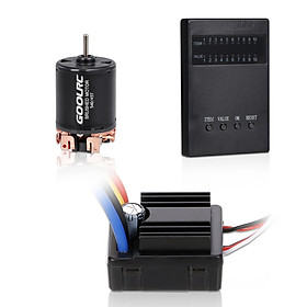 GOOLRC 540 45T Brushed Motor 80A Brushed 2-3S ESC with Programming Card Replacement for 1/10 Axial SCX10 RC4WD D90 RC