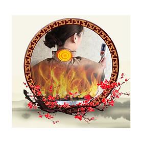 Đai chườm nóng ngải cứu - Túi chườm nóng vùng vai gáy ruột bằng thảo dược phơi khô chế biến, hỗ trợ giảm đau mỏi vai gáy, đau đốt sống cổ, giúp giảm mỏi mệt, hỗ trợ giấc ngủ, ngủ sâu hơn