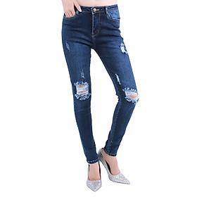 Quần Jeans Nữ Lưng Cao M02 - Xanh Vi Sinh