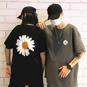 4 color【M-5XL】Fashion Short sleeve T-shirt Men Printed Pattern Flowers student couple short T-shirt unisex T-shirt Summer new style Oversize couple wear
