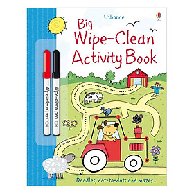 Usborne Big Wipe-Clean Activity Book                                                          (bind-up of Doodles, Mazes, Dot-to-Dot)