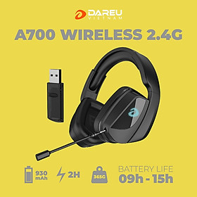 Tai Nghe Gaming Không Dây DareU A700 WIRELESS 2.4G - Hàng Chính Hãng