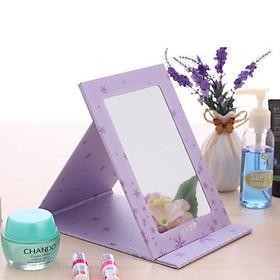 Gương trang điểm để bàn gấp gọn cực xinh xắn, cỡ trung 18cm ( Giao ngẫu nhiên mẫu)