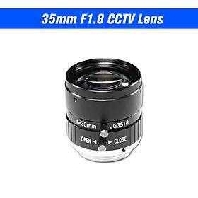 35mm Lens F1.8 CS Mount 5.0 MegaPixel 17.5 Degree Lens Infrared Night Vision For CCTV Security Camera Industrial lens