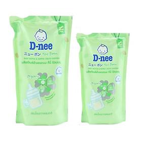 Combo Nước Rửa Bình Sữa Dạng Túi D-nee - Xanh lá (400ml+600ml)