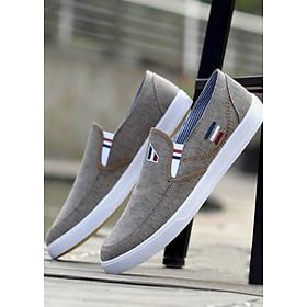Giày Sneaker Nam Cao Cấp TZN Êm Bền - Màu Nâu Xám - TN12