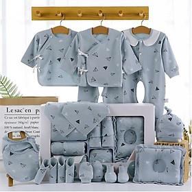 Set đồ sơ sinh quà tặng cho bé 18-22 chi tiết coton có hộp sang chảnh