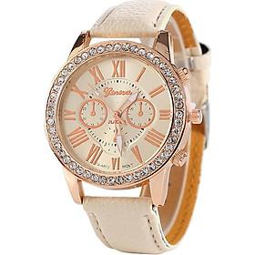 Geneva Male Quartz Watch Wristwatch Metal PU Leather Belt Casual For Men/Women