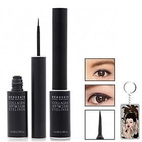 Kẻ mắt nước Beauskin Collagen Soft & Clear Eyeliner Hàn Quốc 7ml + Móc khóa