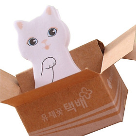 Kawaii Cute Carton Cat Kitty Memo Pads Sticky Notes Stickers Label Stick School Office Stationery Gift