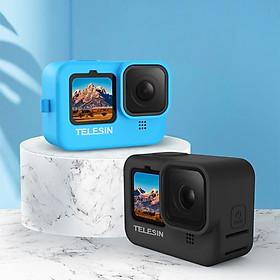 Vỏ Bảo Vệ Silicon Cho GoPro 9 - Kèm Nắp Bảo Vệ Ống Kính Và Dây Đeo Tay Thời Trang (Hàng Chính Hãng) Không bao gồm máy quay GoPro và màu sắc khác