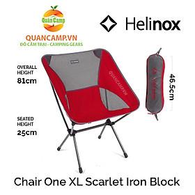 Ghế dã ngoại xếp gọn Helinox Chair One XL Scarlet Iron Block