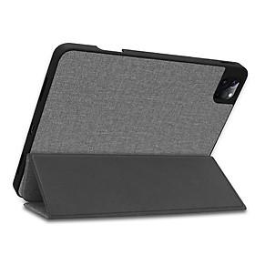 Ốp máy tính bảng tpu giả vải nắp gập tự tắt có đế đỡ cho iPad pro 12.9 2020 iPad Pro 11 2018 2020