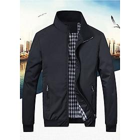 Áo khoác nam chống nắng gió thu đông Doka (DBLS102) chất liệu dù giữ ấm cao cấp màu đen , màu xanh đen , màu xanh rêu