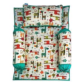 Bộ 4 Món Ga Gối Cho Bé Sleep Baby Colorful Giraffe 2 - F126