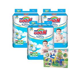 Combo 3 bịch Tã Dán Goo.n Premium S64/M60/L50/XL46 Tặng bộ đồ chơi khu vườn sáng tạo